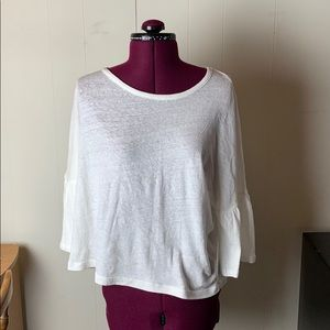 Madewell White Bell-Sleeved Tee Size Small